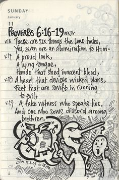 Visual for Proverbs Scripture Verses, Bible Verses Quotes, Bible Scriptures, Scripture Journal, Proverbs 6, Bible Knowledge, Peace Quotes, Bible Lessons, Bible Art