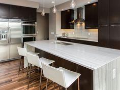 Quartz Vs Granite Countertops For Kitchen Ideas: White Quartz Vs Granite Countertops And Range Hoods Ideas For Kitchen Design