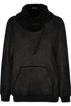 Proenza Schouler | Shearling sweatshirt | NET-A-PORTER.COM