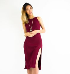 Hold up wait a minute... what are you wearing for New Year's Eve?  Get party ready without sacrificing comfort in #peepboutique's Slit Knit Midi Dress in a deep wine red! #peepb  Available at 30% off until 31st Dec 2016 with code 'IM30TAKE30' on www.peepb.com. Offer valid online only. . . . #shoppingroll #fashion #style #looks #lookbook #ootd #outfit #igmalaysia #malaysiaonlineshop #onlineshopmalaysia #igmy #ootdmalaysia