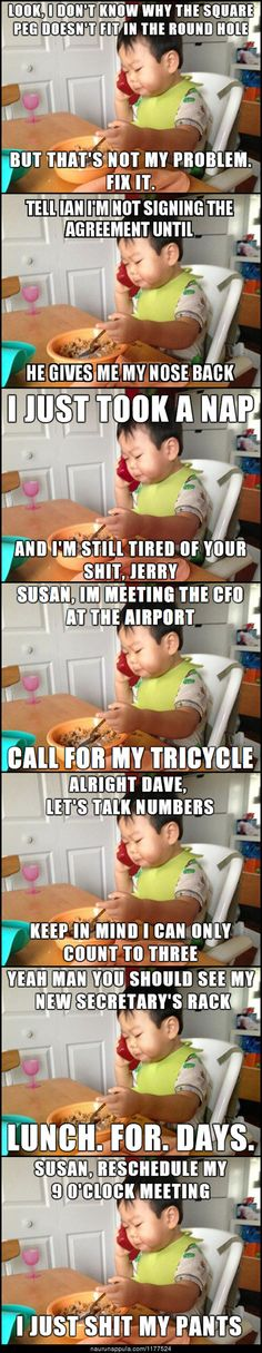 Here, I Present You The New Business Baby. 10 Funniest Business Baby Memes So Far. Funny Baby Memes, Funny Babies, Funny Images, Funny Pictures, Love Memes For Him, Business Baby, Funny Comments, Funny Tumblr Posts, Funny Couples