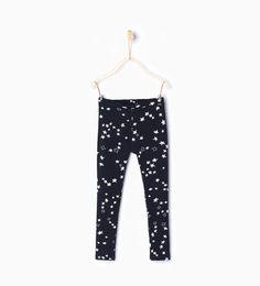Image 1 of Basic printed leggings from Zara