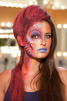 ITM Paris • à l'instant Maquillage réalisé par Lydie Moroy, étudiante à ITM Paris pour Face off.