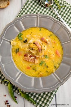 Soups, Bacon, Food And Drink, Cooking, Ethnic Recipes, Mariana, Zucchini, Essen, Kitchen
