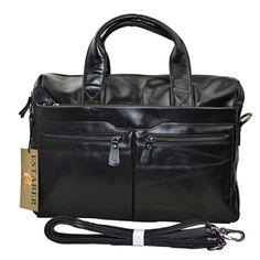 Estarer Umhängetasche Herren Vintage Ledertasche Messenger Bag A4 Bürotasche Arbeitstasche aus echtem Leder
