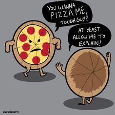 Domestic Disturbance in the Fr… is listed (or ranked) 1 on the list Funny Pizz… Domestic Disturbance in the Fr … ist auf Platz 1 der Liste Funny Pizza Puns, die nur ein wenig kitschig sind Pizza Puns, Pizza Meme, Pizza Humor, Punny Puns, Cute Puns, Funny Cute, Funny Pix, Food Jokes, Funny Jokes