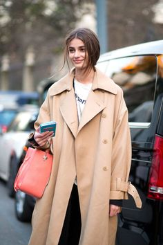 Taylor Hill #oversizedcamelcoat #mfwaw2015