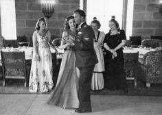 Eva Braun dancing with her brother-in-law Hermann Fegelein at his wedding to Eva's sister Gretl, June 3, 1944