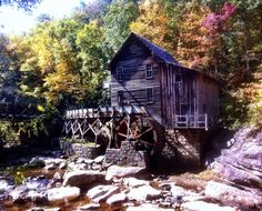 Old Grist Mill in Babcock State Park in WV... Taken by my son in October 2013