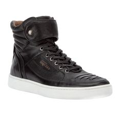 Alexander McQueen for Puma – Black Leather Hi-Top Trainers Alexander  Mcqueen 275b8241e