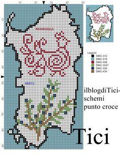 Schema punto croce Sardegna