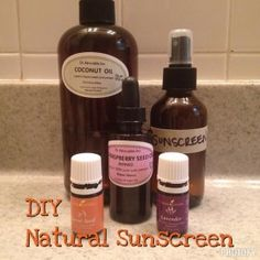 Protect Yourself From The Sun Over Memorial Day Weekend: DIY Natural Sunscreen All Natural Sunscreen, Memorial Day, Raspberry Seed Oil, Carrot Seed Oil, Natural Lifestyle, Fractionated Coconut Oil, Lavender Oil, Jojoba Oil, Sun