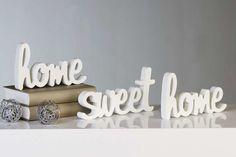 home sweet home dekorácie - Hľadať Googlom Sweet Home, Place Cards, Place Card Holders, Home Decor, Decoration Home, House Beautiful, Room Decor, Home Interior Design, Home Decoration