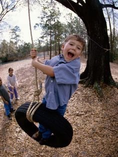 Get the kids away from the electronics and out in the fresh air by installing a tire swing in your backyard. Tire swings have been around forever because they're fun for any age and they're inexpensive to make.