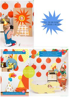 We heart this photobooth out of carboard and wallpaper. MoodKids magazine for kids