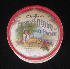 Rare ShemElNessim Face Powder Box  J Grossmith & by KISoriginals, $189.00