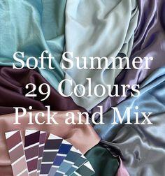 Cool Winter Color Palette, Soft Summer Palette, Winter Colors, Summer Colors, Seasonal Color Analysis, Dramatic Classic, Soft Autumn, Fashion Capsule, Season Colors