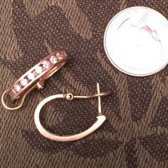 1 ct. The Channel Set Diamond Hoop Earrings Love these earrings!!! I don't wear gold anymore. Jewelry Earrings