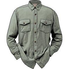 6cded255e0b2 Men s Cavalry Twill Flannel Shirt BTTLGRN XLG REG