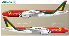 Livrea Alitalia-Ferrari B737-800