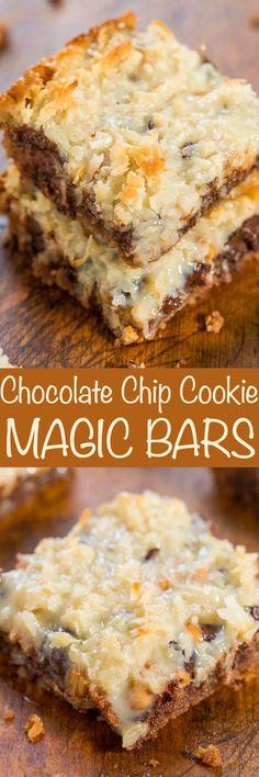 Chocolate Chip Cookie Magic Bars