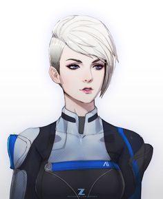 Cora Harper,ME персонажи,Mass Effect,фэндомы,ZeroNis,Paul Kwon,artist,Mass Effect Andromeda