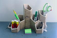 Building Hero Desk Organizer by BuildingHeroProject on Etsy Concrete Crafts, Concrete Art, Concrete Design, Handmade Gifts For Men, Best Places To Live, Desk Set, Home And Deco, Desk Organization, Desk Accessories