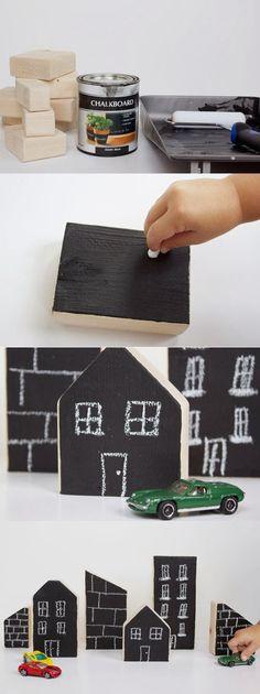 mommo design: CHALKBOARD CRAFTS - city blocks
