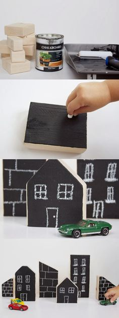 mommo design: CHALKBOARD CRAFTS - city blocks