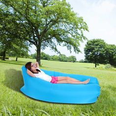 High Quality docooler Outdoor Portable Convenient Inflatable Lounger Air Sleeping Bag Polyester Air Sleep Sofa Couch from Tomtop.com