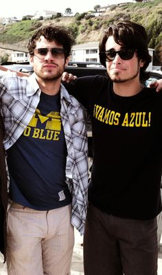 Two of my fave UM alumns! No joke, I almost bought the t-shirt Joey Richter has on last time I was on campus!