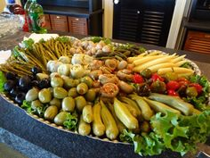 Marinated Vegetable Display – CATERING BY DEBBI COVINGTON   www.cateringbydebbicovington.com