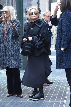 Хелена Бонем-Картер на съемках фильма «8 подруг Оушена»