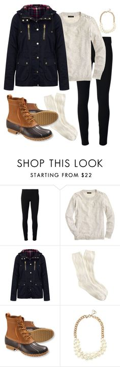 Bean boots! by haleighhurst on Polyvore featuring J.Crew, Topshop, Helmut by Helmut Lang and L.L.Bean