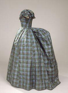 #1860s  #Fashion #New #Nice #PlaidDress #2dayslook  www.2dayslook.com