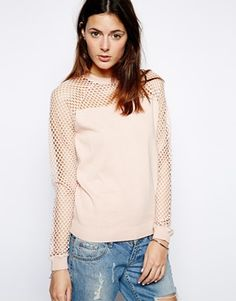ASOS Jumper With Mesh Insert and Sleeves  want to wear this every day!