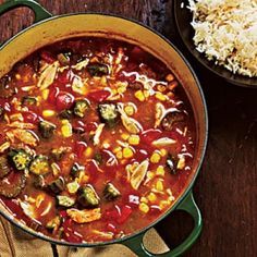 Crab and Vegetable Gumbo - Classic New Orleans Recipes - Cooking Light Mobile Healthy Recipes On A Budget, Cooking On A Budget, Budget Meals, Healthy Foods, Frugal Meals, Easy Dinners, Freezer Meals, Easy Cooking, Healthy Eats