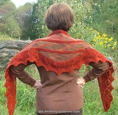 ABC Knitting Patterns - Small Leaf Border Shawl  - errata on Ravelry