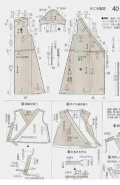 Japanese book and handicrafts - Lady Boutique Fashion Sewing, Kimono Fashion, Diy Fashion, Pattern Cutting, Pattern Making, Sewing Clothes, Diy Clothes, Ladies Clothes, Sewing Tutorials
