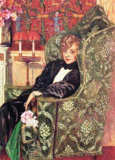 Portrait of Yvonne Printemps-1921 by Edouard Vuillard                                                                                                                                                      More