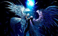 Angel and Demon Lovers Anime Desktop background