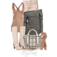 """Loving the boots and the purse """"Fall - #94"""" by in-my-closet on Polyvore"""