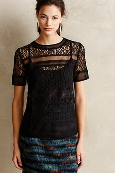 Lined Lace Tee - anthropologie.com #anthrofave
