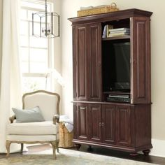 """Slim Chadwick Media Armoire 