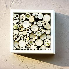 8 stylish bug hotels | Nesting in style | Sunset.com  These handmade creations are more than eye-catching pieces of garden art. Known as bug hotels, they offer shelter and even food for beetles, solitary bees, and spiders.