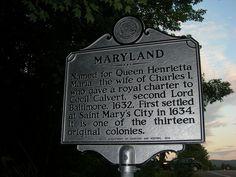 Maryland Historic Marker