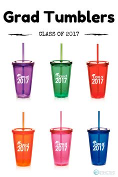 Class of 2017 Graduation Tumblers made a great Graduation Gift Idea.