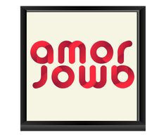 Quadro Amor Amor - 23,5x23,5cm | Westwing - Casa & Decoração