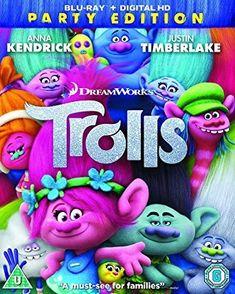 Trolls Amblin Entertainment, Dreamworks Animation, Asda, Troll, Smurfs, Kids Toys, Entertaining, Children, Movies