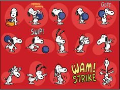 SNOOPY~~KaBOOM Peanuts Series 2, #7 - Snoopy's bowling